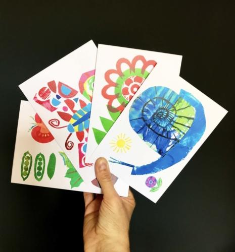 garden cards in hand